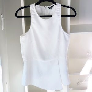 White Tibi Blouse Tank Top